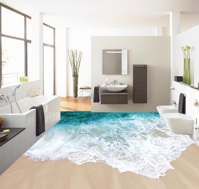 revetement de sol vinyle pvc personnalise paysage de la mer atelier wybo