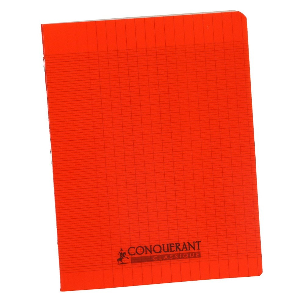 cahier polypro 17x22 conquerant grands