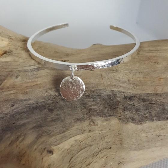 bracelet femme manchette argent