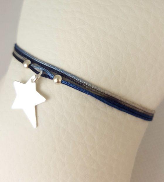 bracelet fil médaille étoile