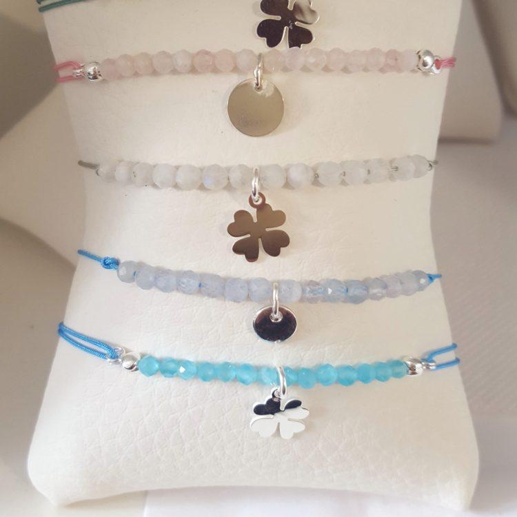 bracelet pierres naturelles et cordon