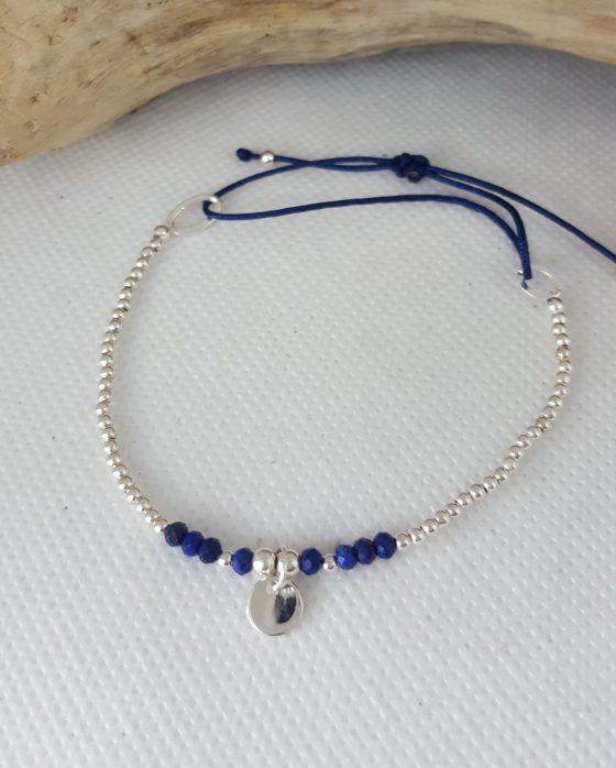 bracelet perles d'argent femme
