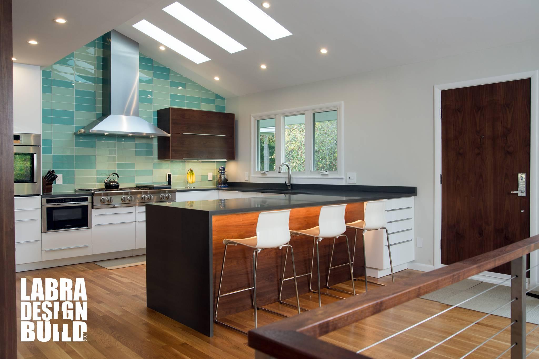 Shop colorful, contemporary backsplash tile online at modwalls. mid century modern kitchen remodel labra design build ...