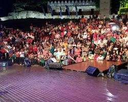 lluvia no para la fiesta del Mayimbe en Anfiteatro Puerto Plata
