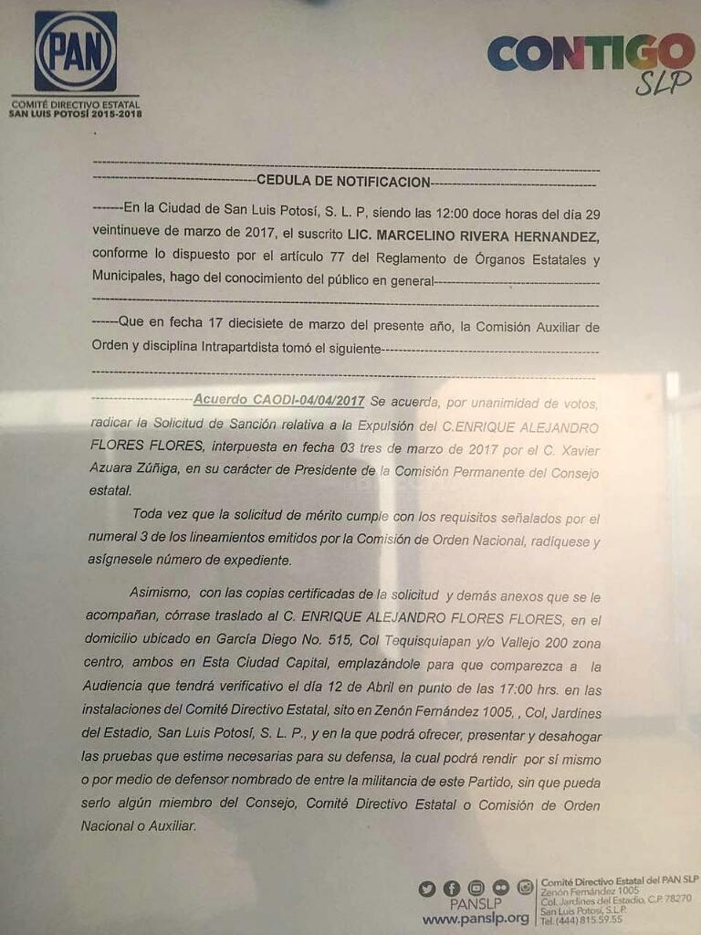 Marcelino Rivera notificacion