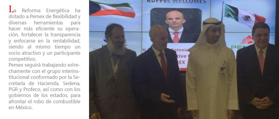 Pemex en Arabia y Kuwait-