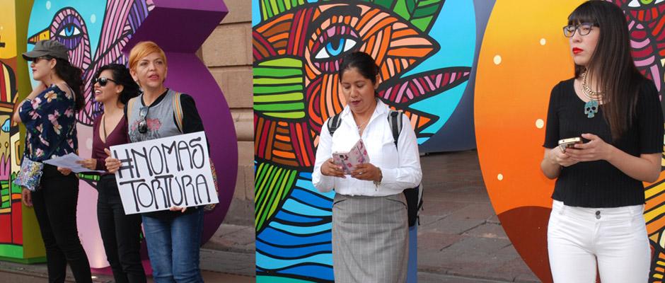 Las Simonas exigen una vida libre de violencia contra las mujeres en SLP