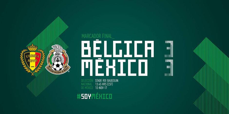 Mexico empata a 3 con Belgica-4