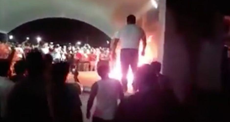 Usan Video de Hombre en Llamas en Tabasco para Generar Odio en Proceso Electoral