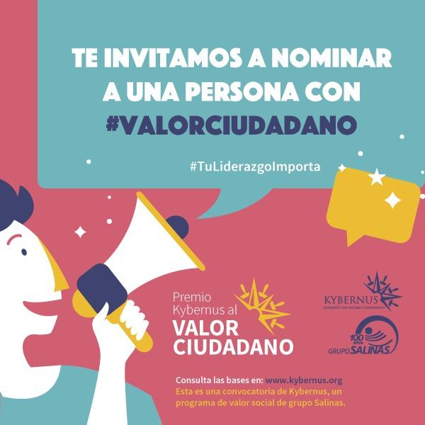 Kybernus Convoca al Premio Valor Ciudadano 2019