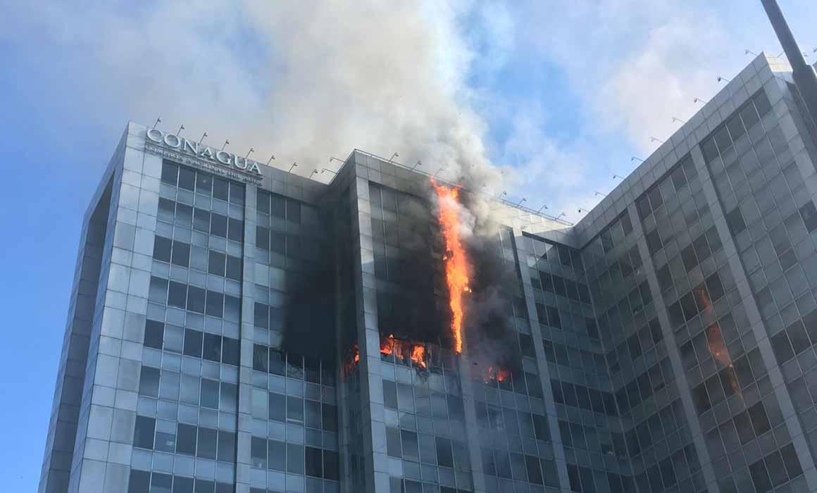 Incendio en Conagua de CDMX