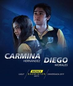 Universiada 2019-badminton-Carmina y Diego-