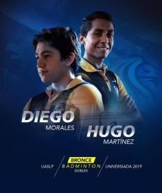 Universiada-Badminton-Diego y Hugo-