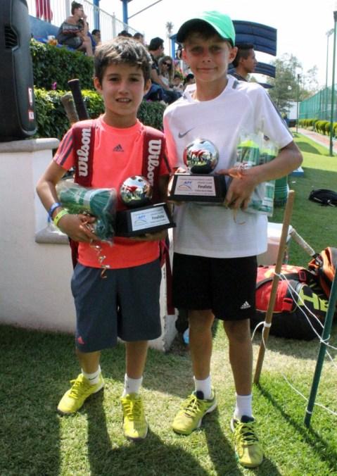 1er Campeonato Nacional Tenis Grand Slam -Finalistas dobles Diego Morales y Diego Alcalá