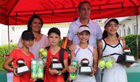 1er Campeonato Nacional Tenis Grand Slam -premiacion cat 10 años fem dobles