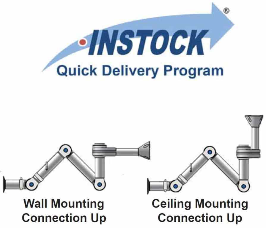 Exhaust Snorkel Wall and Ceiling Mounts