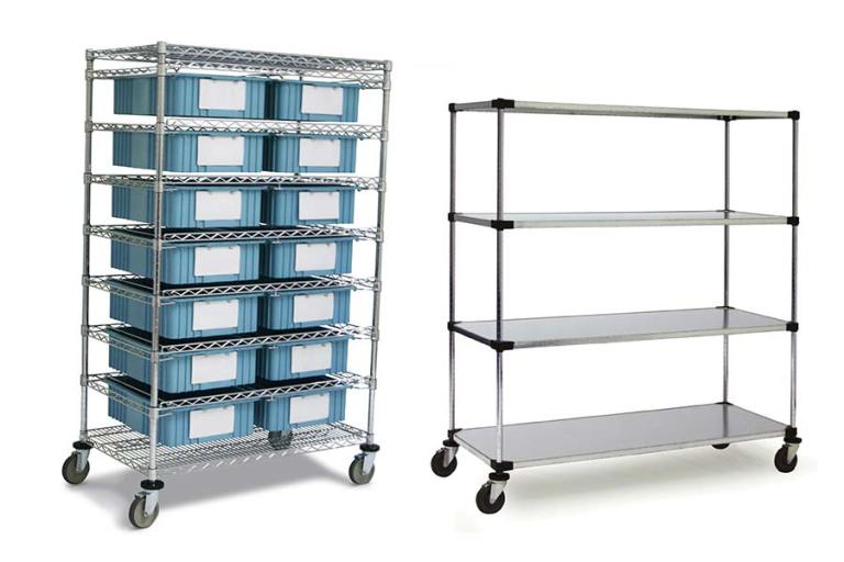Climate Controlled Mobile Shelves