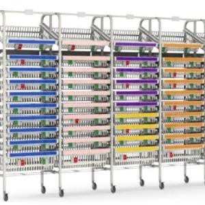 Medical Inventory Mobile Shelves