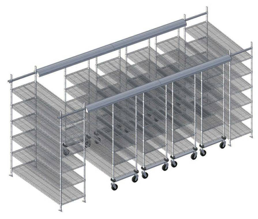 Modular Wire Lab Shelving
