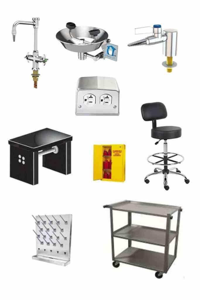 Laboratory fixtures for contractor
