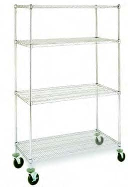 Mobile Lab Wire Shelving