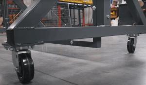Full Length- Lab Tech Separation Panels Caster Wheels