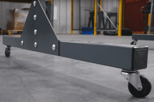 Half Length Lab Tech Separation Panels Caster Wheels