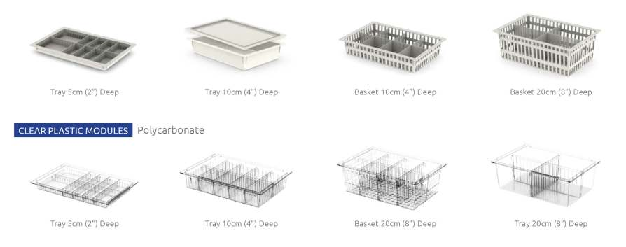 The Widest Variety Of ISO-6040 Modules In Different Depths and Materials