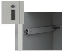 Knob Lock w/ Ergonomic Back Release Lever