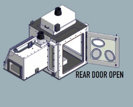 containment enclosure for virus research Rear Door Open