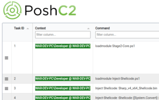 PoshC2 HTML Table Example