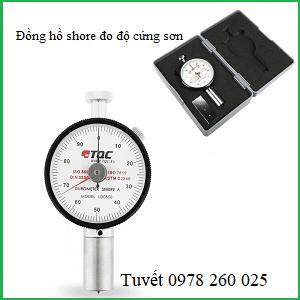 Đồng hồ shore đo độ cứng TQC trên nền nhựa, cao su