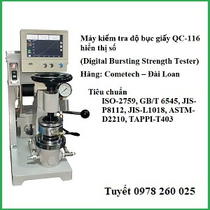 Máy kiểm tra độ bục giấy QC-116 hiển thị số