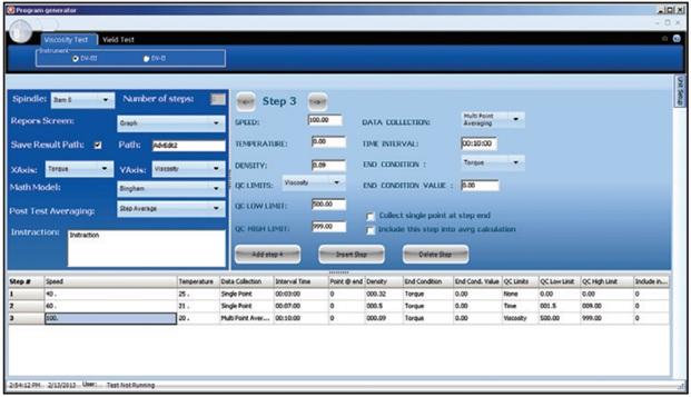 Phần mềm cho máy đo độ nhớt