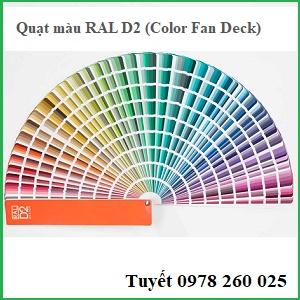 Quạt màu Ral D2 (Color Fan Deck)