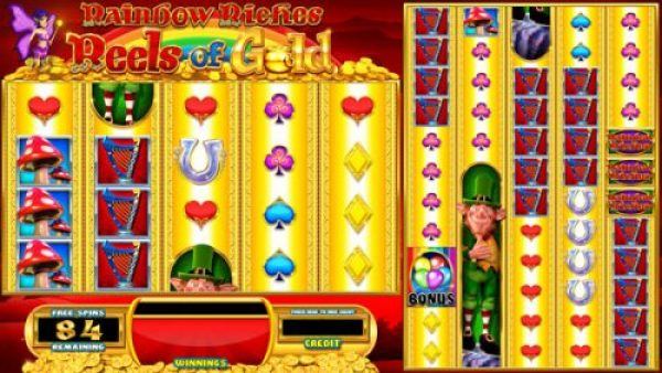Rainbow Riches Reels of Gold Free Spins Bonus Entry