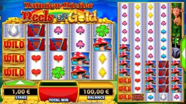 What can you win in Rainbow Riches Reels of Gold
