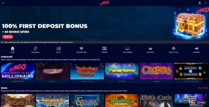Slingo Casino Website