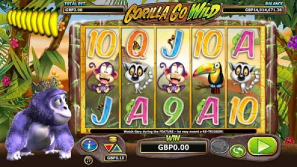 New slots that came out in 209: Gorilla Go WIlder