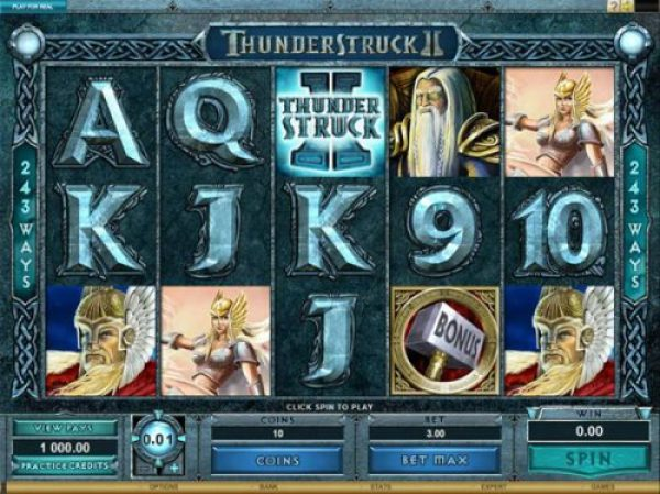 Thunderstruck II by Microgaming one of the best online slots ever