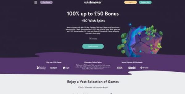 Wishmaker Casino Welcome Offer in the UK