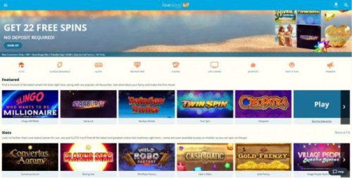 Love Island Games Casino Review