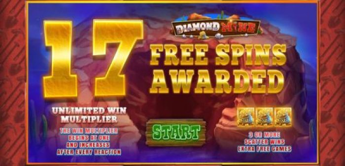 Free Spins during Diamond Mine Megaways