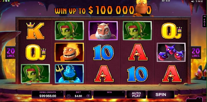 Win up to £100,000 by playing the Hot as Hades bonus rounds.