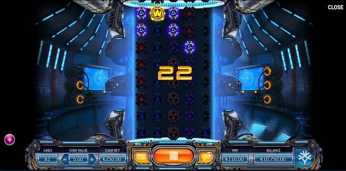 Power Plant online slot game screen