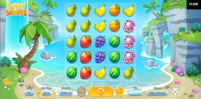 Sunny Shores online slot game screen