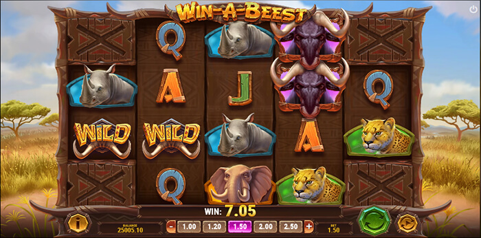 Win a Beest online slot game big win