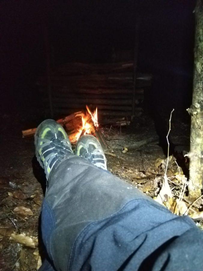 Nocny relaks przy małym ogienku
