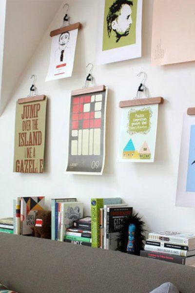 7 - ideas colgar cuadros - perchas